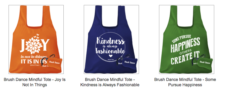 Brush Dance Tote Bags